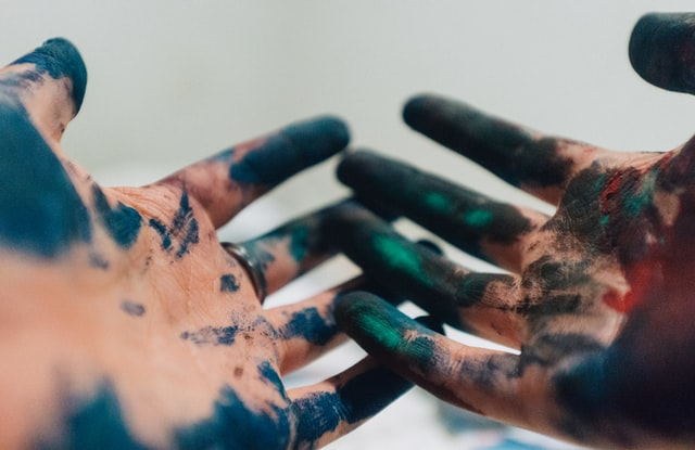 Hands Messy With Paint
